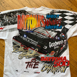 NASCAR Dale Earnhardt Daytona 500 Champion Allover Print T-Shirt