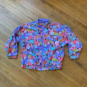 Lavon Abstract All Over Print Windbreaker