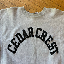 Load image into Gallery viewer, Champion Reverse Weave Made In U.S.A Cedar Crest Letterman Crewneck