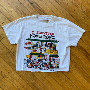 I Survived Hong Kong Tourist Cropped T-Shirt