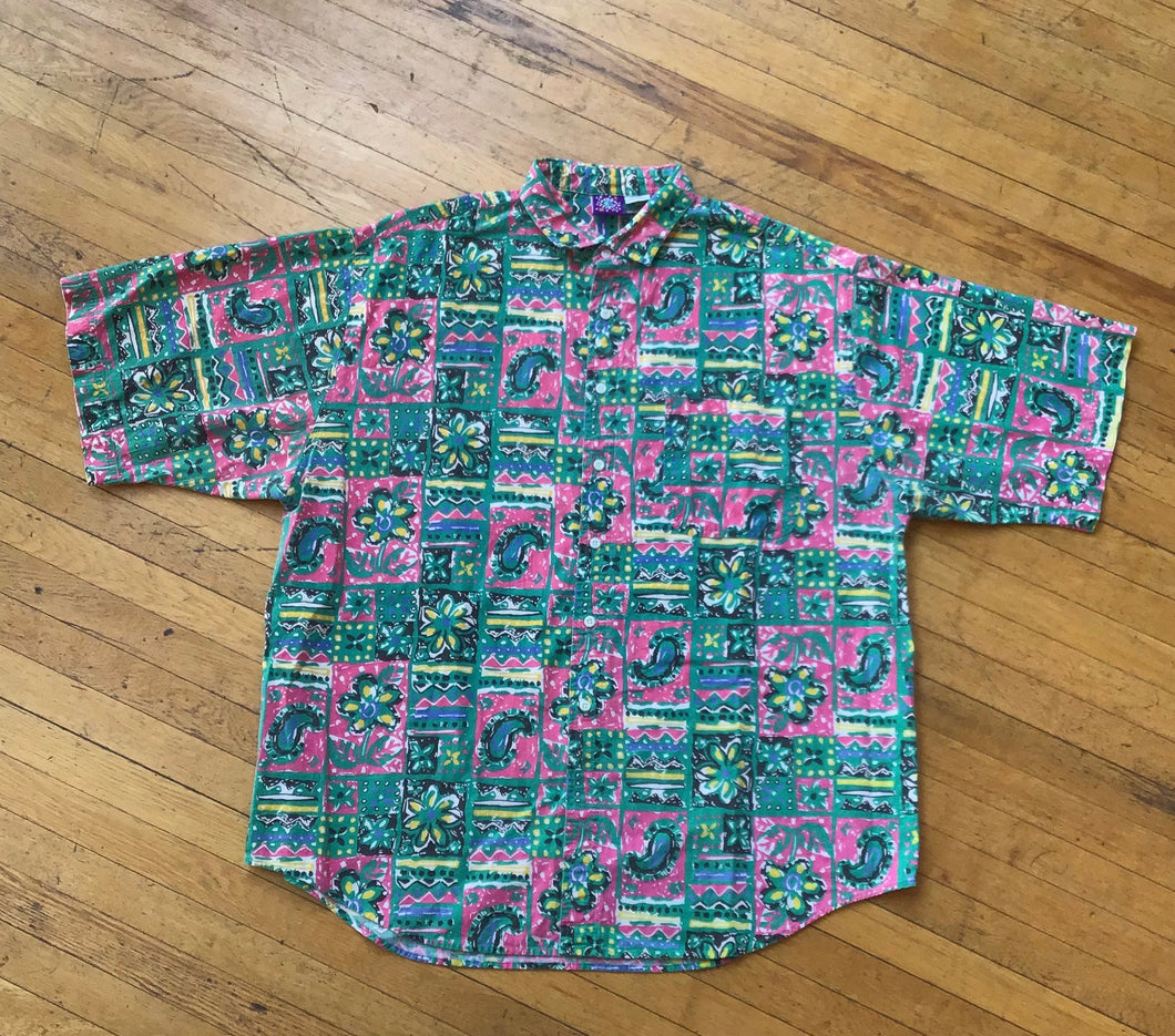 Pro Spirit Abstract Paisley and Floral SS Woven