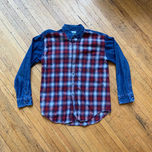 Load image into Gallery viewer, Tidewater Traders Denim Flannel LS Woven