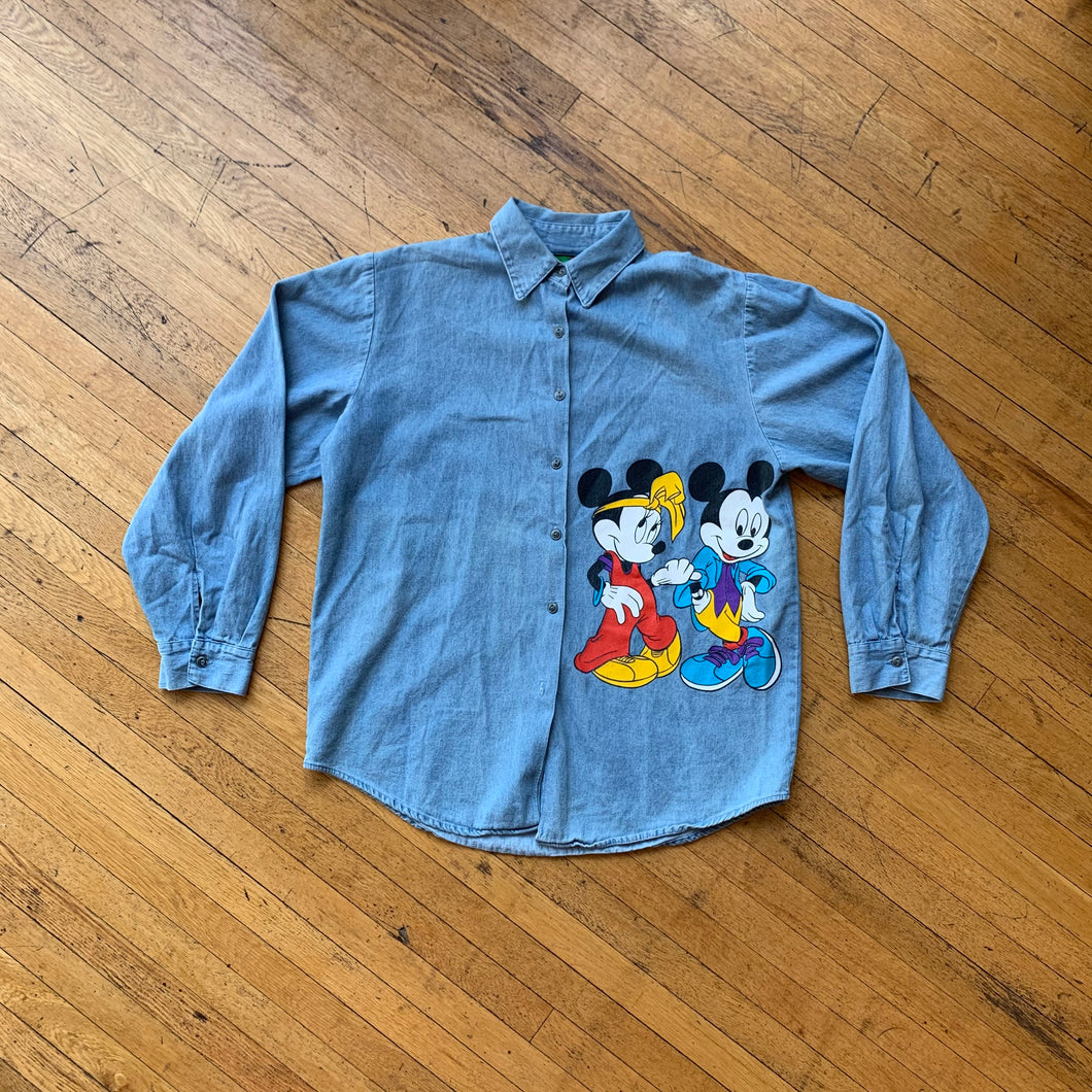 Mickey & Minnie Mouse Denim LS Woven