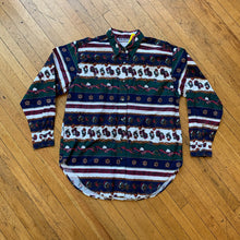 Load image into Gallery viewer, Red Rover Striped Paisley LS Woven