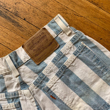Load image into Gallery viewer, Levis Orange Tab Bold Stripe Denim Shorts