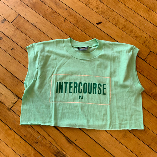 Intercourse, PA Cropped Sleeveless T-Shirt