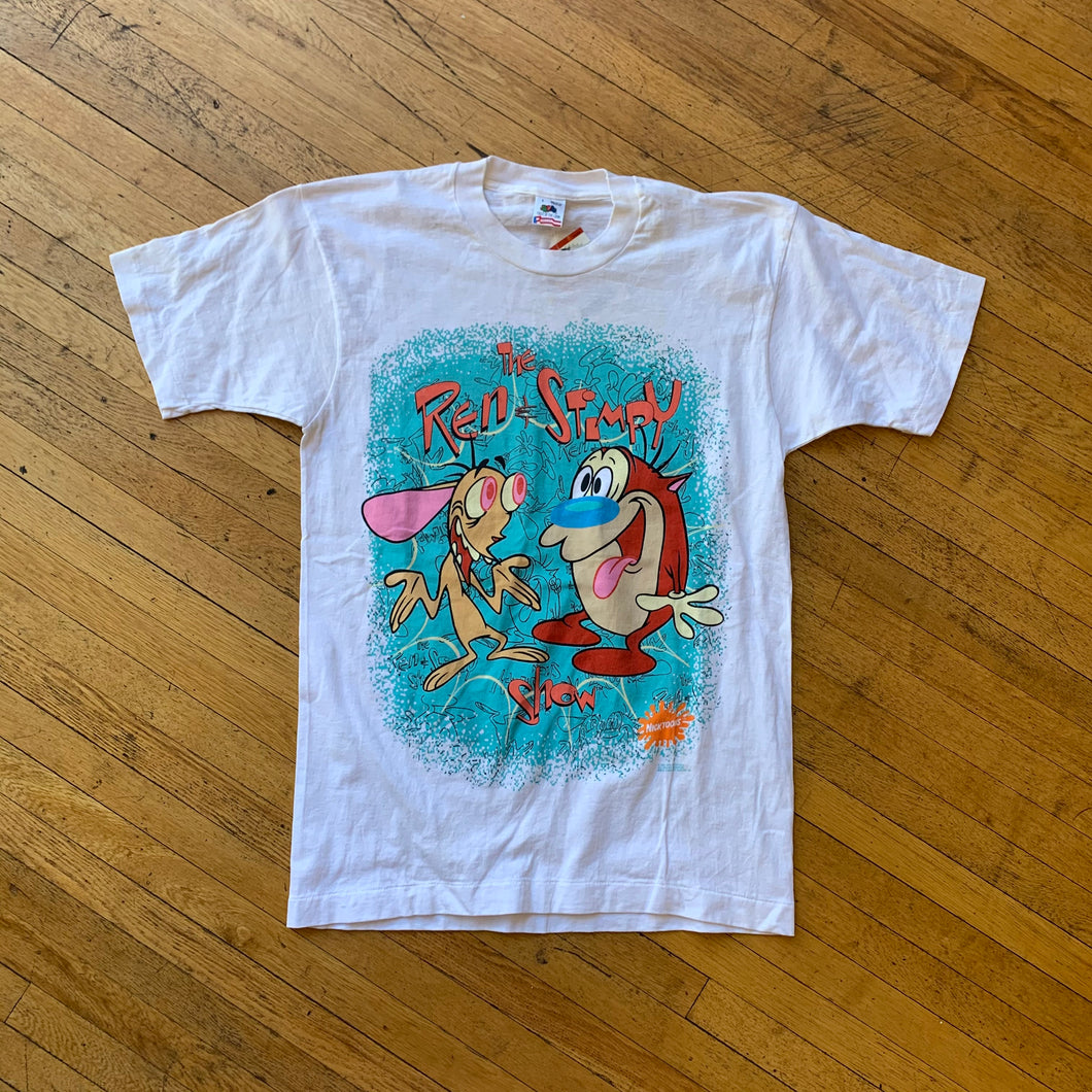 The Ren & Stimpy Show 1991 Characters Single Stitch T-Shirt