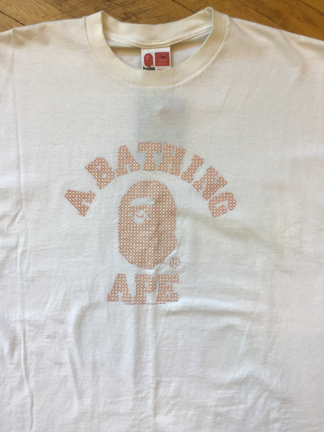 CONSIGN TG 12 : BAPE PATTERN COLLEGE T-SHIRT