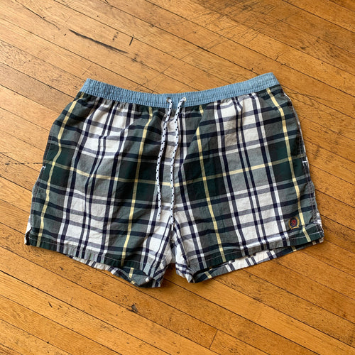 Tommy Hilfiger Plaid Swim Trunks