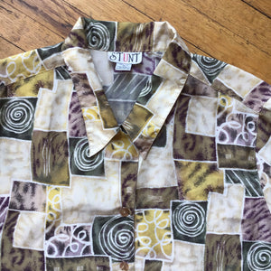 STUNT Abstract Allover Print Silk SS Woven