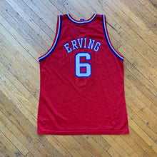 Load image into Gallery viewer, Champion Made In U.S.A 76ers Irving 50th Anniversary Jersey