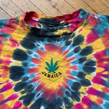Load image into Gallery viewer, Jamaica Weed Leaf Embroidered Tie Dye T-Shirt