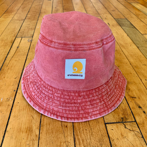 2BV Washed Classic Patch Bucket Hat