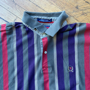 Tommy Hilfiger Vertical Striped Polo Top