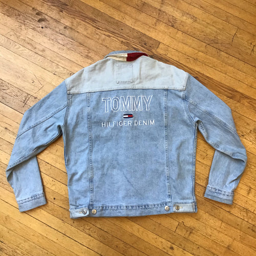 Tommy Hilfiger Embroidered Text Denim Jacket