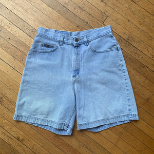 Riders Faded Light Wash Denim Shorts