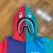 Load image into Gallery viewer, BAPE x EA Sports Color Block Shark Zip-Up Hoodie