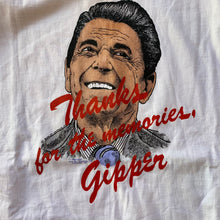 "Load image into Gallery viewer, Ronald Reagan 1993 ""Thanks for the memories, Gipper"" T-Shirt"
