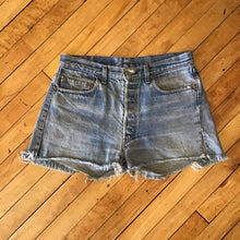 Load image into Gallery viewer, Levi's Made in USA Denim Cutoff Shorts