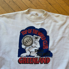 Load image into Gallery viewer, Reworked Greenland Top Of The World Polar Bear Crewneck