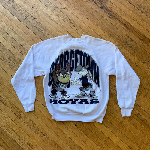The Looney Toons 1993 TAZ & Bugs Georgetown Crewneck