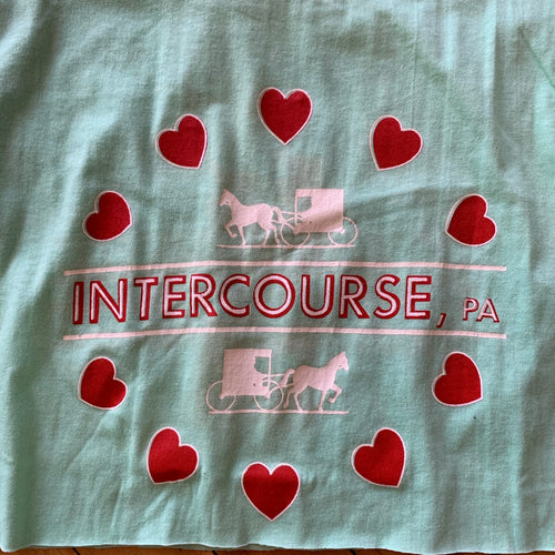 Intercourse, PA Horse & Carriage Heart Cropped T-Shirt