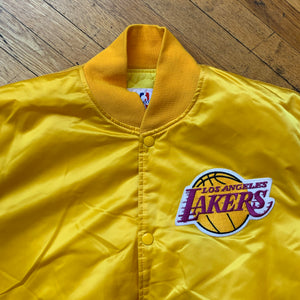 Starter NBA Authentics LA Lakers Satin Bomber Jacket