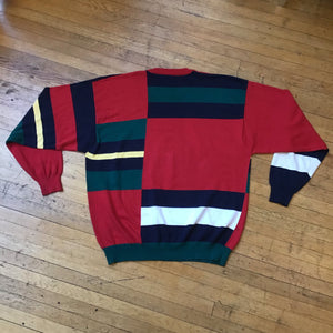 Mickey & Friends Color Block Golf Sweater