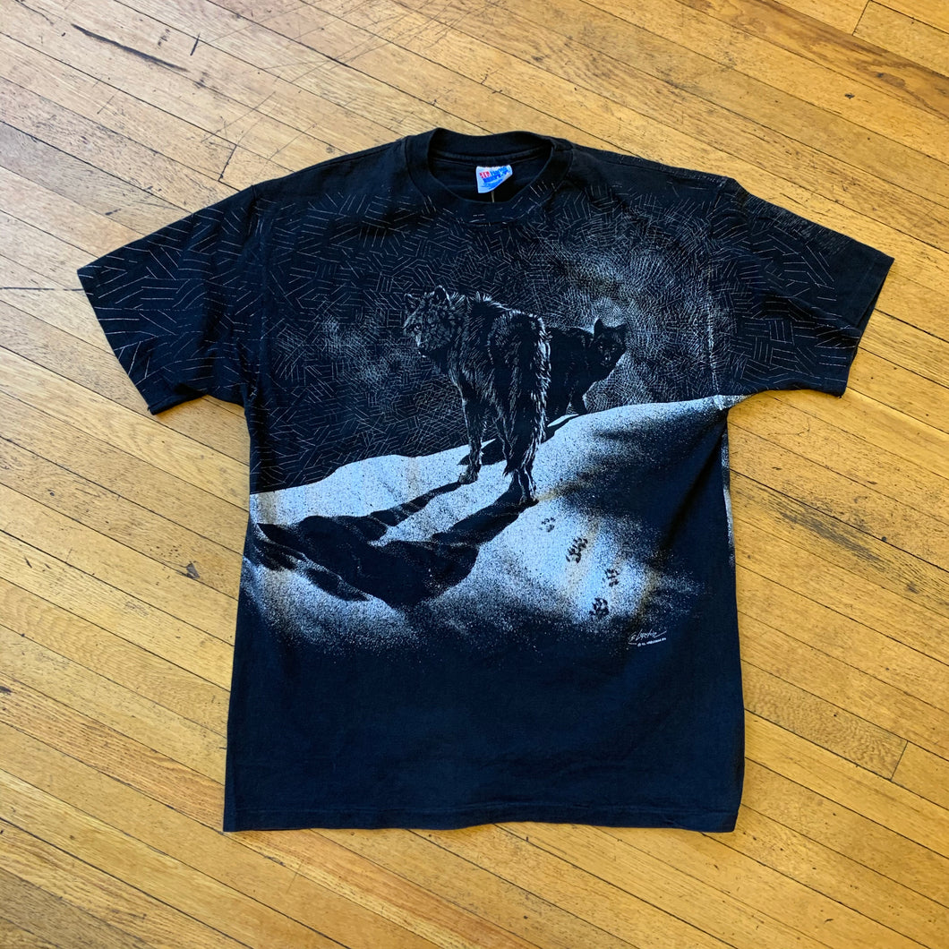 Wolves Sillouette Sketch T-Shirt