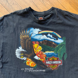 "Harley Davidson ""A Ride In Paradise"" Hawaii T-Shirt"