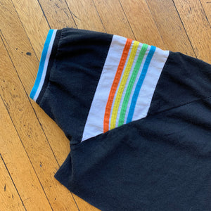 Runner Up Rainbow Sleeve Cropped T-Shirt