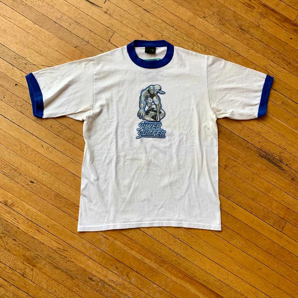 Marvel 2001 Silver Surfer Ringer T-Shirt