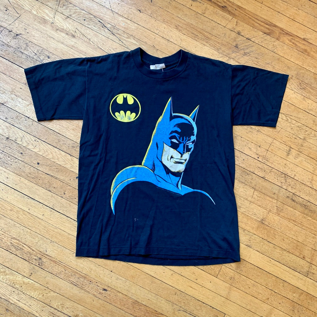 Bat-Man Portrait Single Stitch T-Shirt