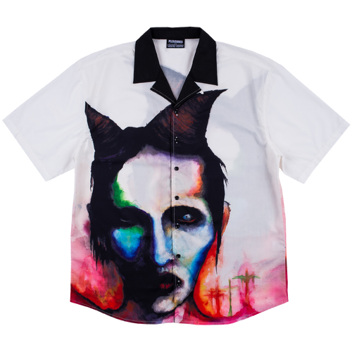 Watercolor Marylin Manson Camp Shirt