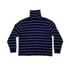 Load image into Gallery viewer, Polo RL Thin Striped Turtle Neck Long Sleeve Shirt