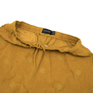 All Over B Logo Cords Pants Mustard