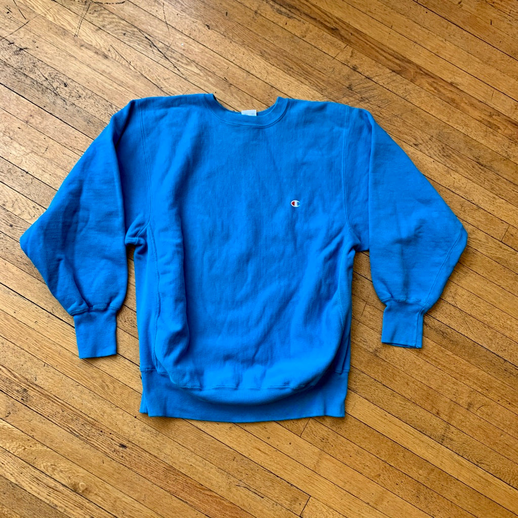 Champion Reverse Weave Made In USA Solid Crewneck