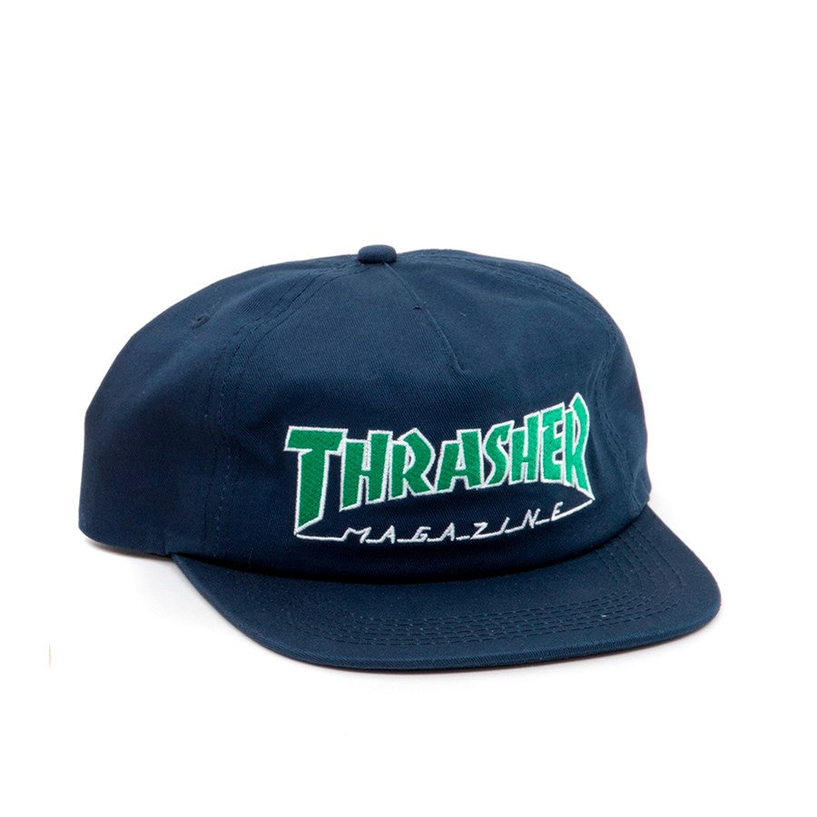 Thrasher Outlined Snapback Hat Navy
