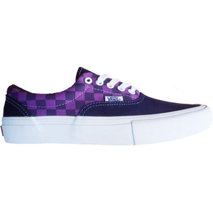 Vans x Baker Era Pro Skateboard Shoes - Kader/Purple Check