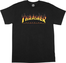 Load image into Gallery viewer, BBQ Flame Logo T-Shirt / Black