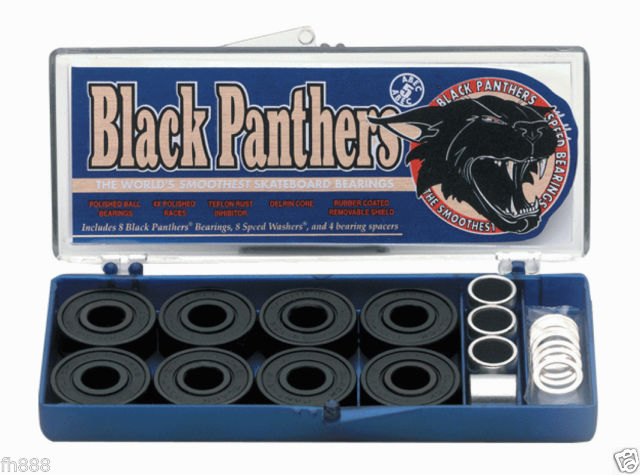 Black Panther ABEC 5 Bearing Set