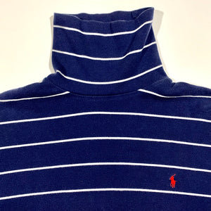 Polo RL Thin Striped Turtle Neck Long Sleeve Shirt