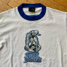 Load image into Gallery viewer, Marvel 2001 Silver Surfer Ringer T-Shirt
