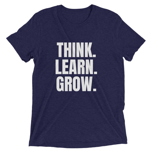 "School Of Gainz ""Think. Learn, Grow"" - Short Sleeve T-Shirt"