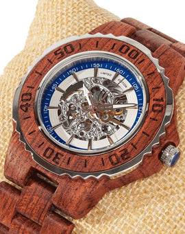 Men's Genuine Automatic Kosso Wooden Watches No Battery Needed Wilds Wood