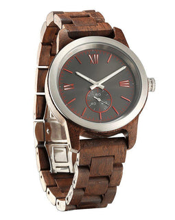 Men's Handcrafted Engraving Walnut Wood Watch - Best Gift Idea! Wilds Wood