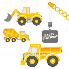 Excavation birthday card  | Lucas loves cars