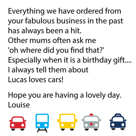 Review of Lucas loves cars