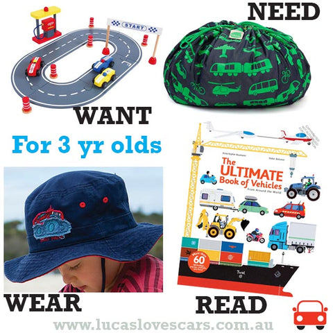 Gift ideas for 3 yr olds
