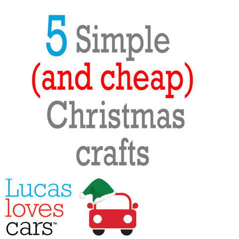 5 simple and cheap christmas crafts